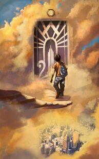 Percy leaving Mount Olympus