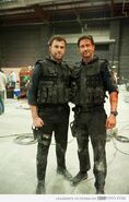 OHF- Airon Armstrong with Gerard Butler on-set