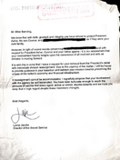 OHF- Banning's Letter from Lynne Jacobs