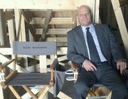 OHF actor Michael P. Gardner on-set as a SS agent