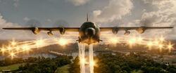 Lockheed Gunship firing it's flares.jpg