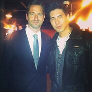 OHF- Lewis Tan and Gerard Butler at OHF opening premiere