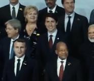 Justin Trudeau in Angel has fallen