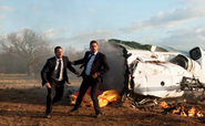LHF- President Asher and Banning get away from plane crash wreckage