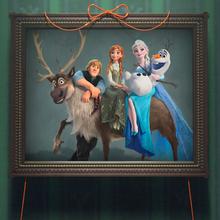 Frozen Fever La Reine des Neiges Une Fête Givrée promo 5 Sven Kristoff Anna Elsa Olaf.png