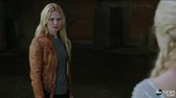 Scène coupée 4x03 Emma Swan Elsa retrouver Anna
