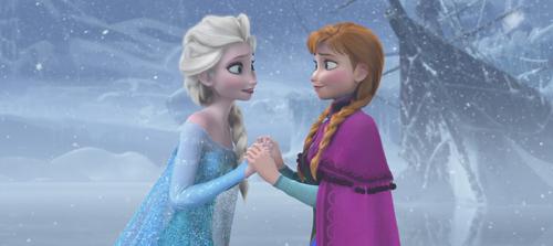 La Reine des Neiges (Disney) Elsa Anna geste Véritable Amour sincère cœur de glace grand dégel.png