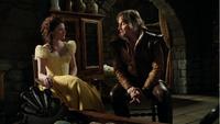 4x22 Belle Rumplestiltskin réécrits robe jaune berceau Neal discussion menace mauvais choix.png