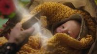 6x19 bébé Rumplestiltskin Fée Noire coupe destin ciseaux Moires