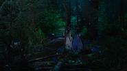 7x03 Tiana Ella Cendrillon rencontre motocyclette carrosse accidenté champ de jacinthes nuit bois forêt enchantée