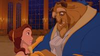 La Belle et la Bête (Disney) danse valse salle de bal regard amour sourires