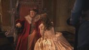 1x12 Seigneur Maurice Belle dos inquiétude résolution trône siège fauteuil chevet genoux agenouillée réconfort