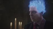 5x12 bougies chandelles Hadès dieu des Enfers flammes bleues