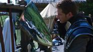 1x06 Prince David James Charmant reflet bouclier campement