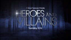 Once Upon a Time season 4 finale 4x21 4x22 Heroes and Villains logo