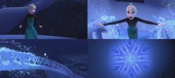 La Reine des Neiges (Disney) Elsa magie cryokinésie flocon pont de glace Libérée Délivrée Let It Go.png
