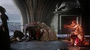 6x10 Regina Mills Méchante Reine épée Sir Henry immobilisation Emma Reine Blanche-Neige Roi David morts