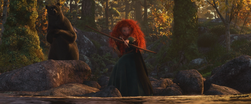 Rebelle Brave Disney Merida Reine Elinor ourse tir à l'arc pêche.png