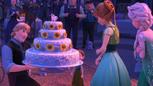 La Reine des Neiges – Une Fête Givrée 2015 Kristoff gâteau d'anniversaire Anna Elsa dos mini.png