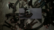 6x17 charme du sommeil peuple mairie de Storybrooke Mary Margaret Blanchard David Nolan Prof (Storybrooke) Emma Swan Killian Jones Capitaine Crochet Leroy Archie Archibald Hopper