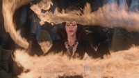 4x12 Maléfique obstacle feu magique dragons