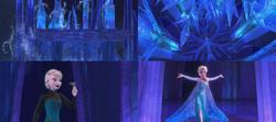 La Reine des Neiges (Disney) Elsa magie cryokinésie couronne Palais de glace Libérée Délivrée Let It Go.png