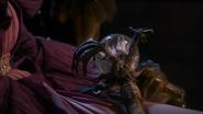 1x02 sceptre Maléfique globe boule cristal formule magique Sort noir Malédiction sculpture de dragon