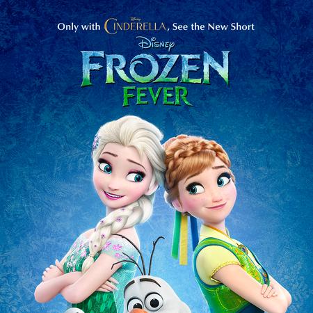 La Reine des Neiges - Une Fête Givrée Disney Frozen Fever Elsa Anna affiche teaser.png