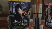 4x21 présentoir livre roman Heroes and Villains première de couverture