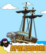 Theod muestra el Apaleador a los Piratas de las Aguas Estancadas
