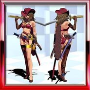 Aya Sexy Combat Uniform Noble Burgundy