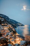 Amalfi Coast at night view