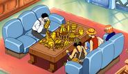 Ishigo Shitemanna taxant l'or dels Barret de Palla