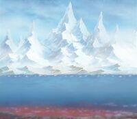 Aspecte interior de l'illa a la zona de gel.