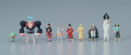 Thousand Sunny Wano Kuni ver Personajes pintados