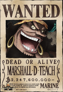 Marshall D. Teach Wanted Poster