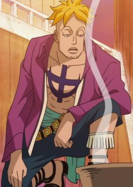 Marco antes del salto temporal en el anime
