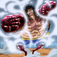 Luffy Activates Gear Fourth