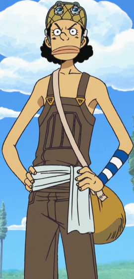 Usopp before the timeskip in the anime