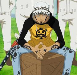 Trafalgar D. Water Law antes do timeskip no anime