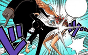 Lucci is attacking Franky.png