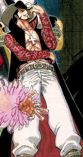 Dracule Mihawk in the manga