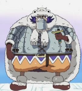 Wapol antes del salto temporal en el anime