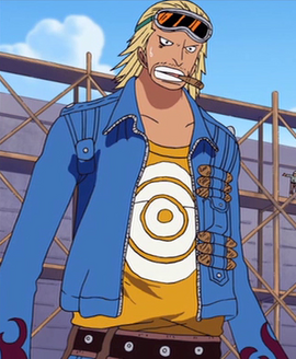 Paulie before the timeskip in the anime