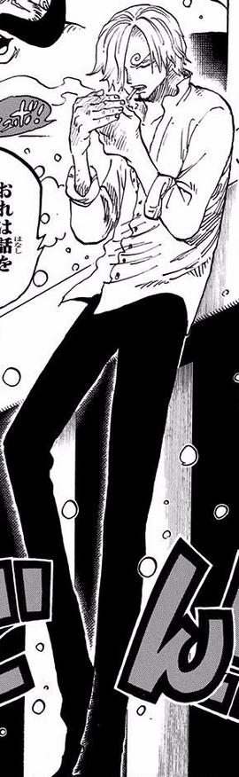 Sanji after the timeskip in the manga