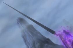 Komei usa Haki para transformar seu fã em uma espada.