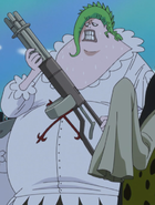 Coribou's Gatling Gun in the Anime