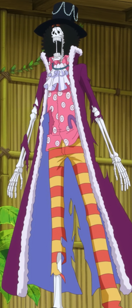 Brook after the timeskip in the anime
