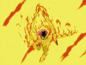 Cięcie smażonego demonigiri