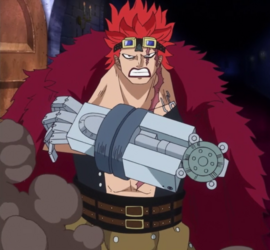 Eustass Kid after the timeskip in the anime